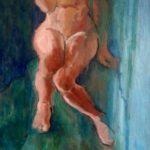 Peinture à l'huile, tableau, femme, nue, montreuil-bellay, pays de loire