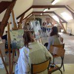 L'atelier du cours dessin et peinture à Montreuil-Bellay