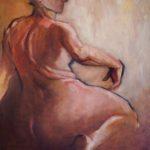 Peinture à l'huile, Stéphanie lécuyer, nu, peinture figurative, couleur,