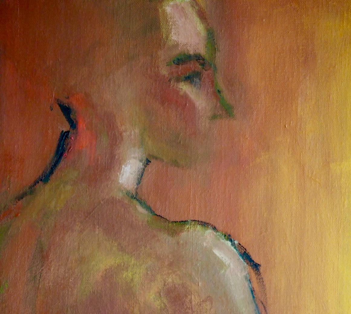 L'Aurore, huile sur toile, détail