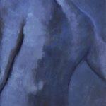 Dos bleu, huile sur toile VENDU
