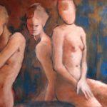 Peinture à l'huile, Stephanie lecuyer, peinture figurative, nu
